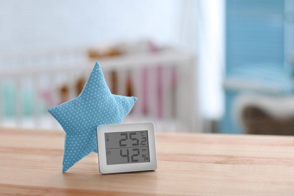 Le bon taux d'hygrométrie dans la chambre de bébé